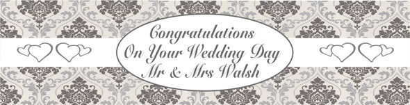 Mr and Mrs Wedding Banner