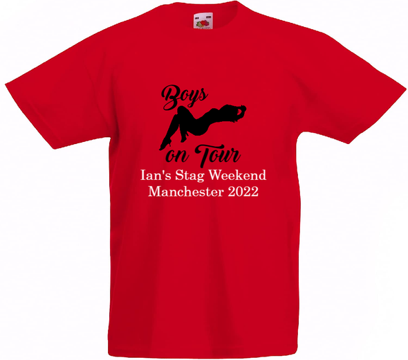 Red Boys On Tour T-Shirt
