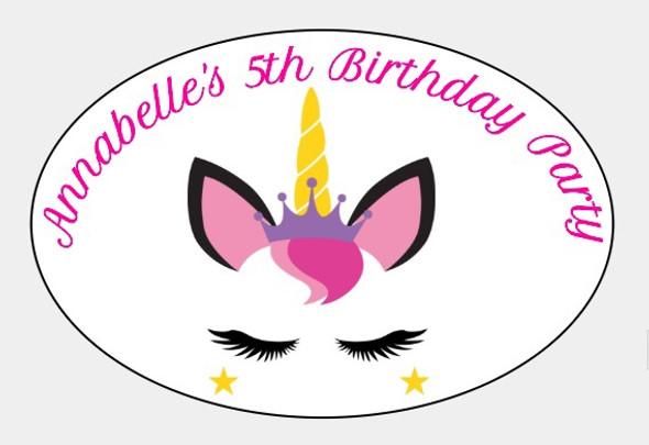 8PK Girls Birthday Label