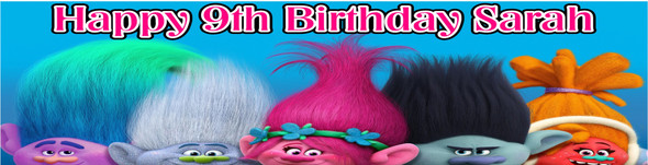 Trolls Birthday Party Banner