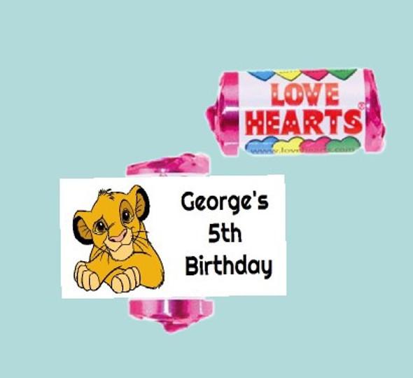 9Pk Simba Love Heart Sweets