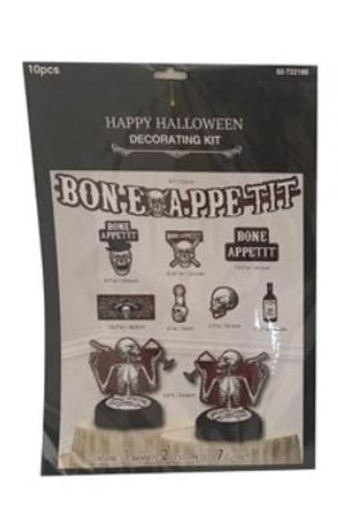 10Pk Halloween Decorating Kit