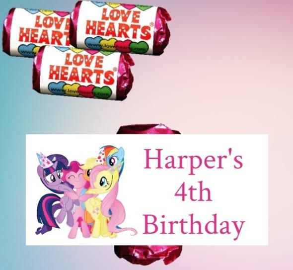 9Pk My Little Pony Lovehearts