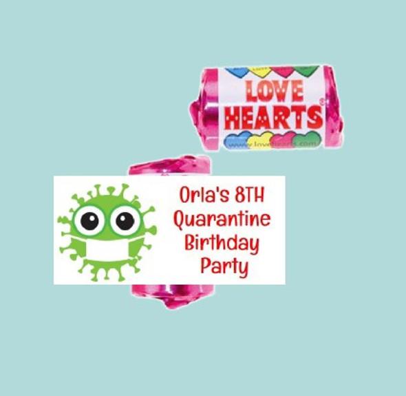 9Pk Quarantine Loveheart Sweet