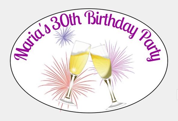 8PK Womans Birthday Label