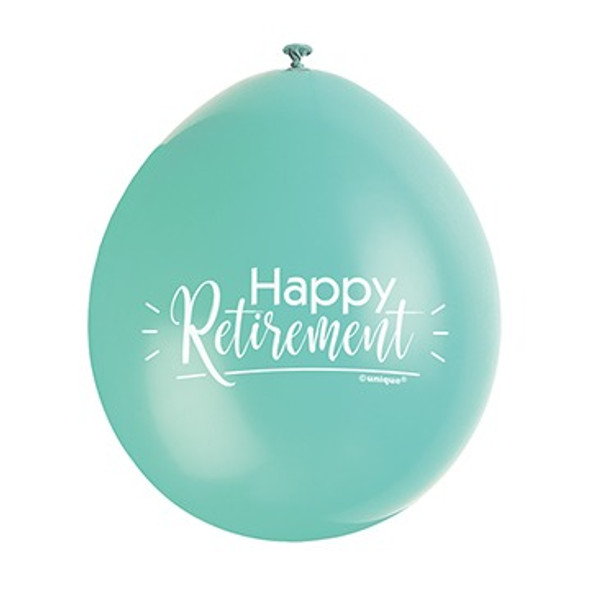 Blue Retirement Balloon