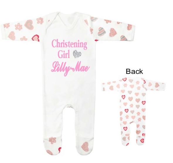 Personalised Heart Baby Grow