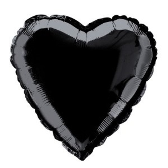 Black Heart Foil Balloon