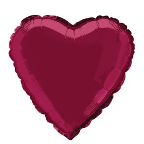 Burgundy Heart Foil Balloon