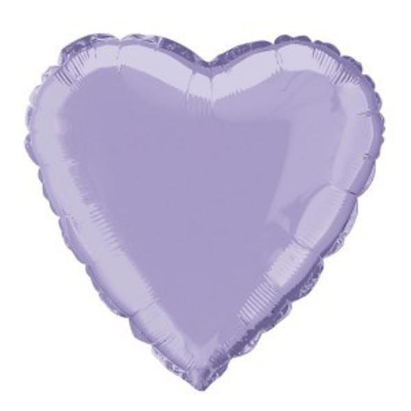 Lavender Heart Foil Balloon