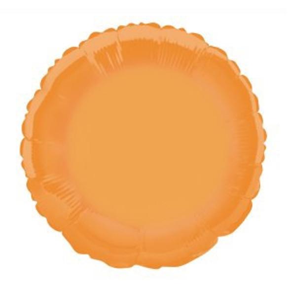 Orange Round Foil Balloon