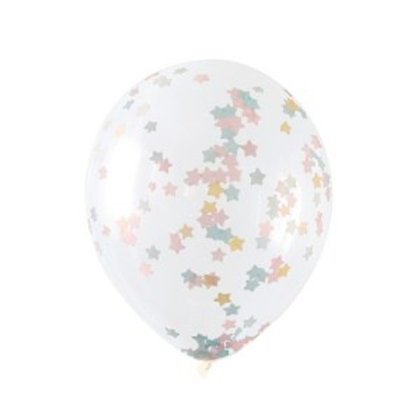Twinkle Star Confetti Balloons