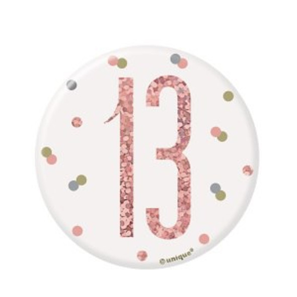 Rose Gold 13th Badge