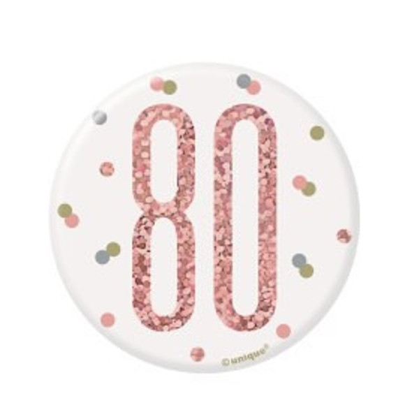 Rose Gold 80th Badge