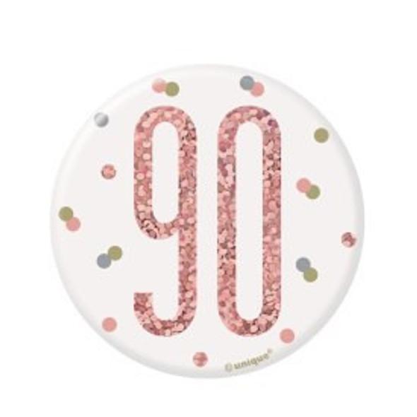 Rose Gold 90th Badge