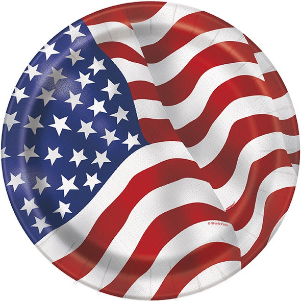 American Flag Paper Plates