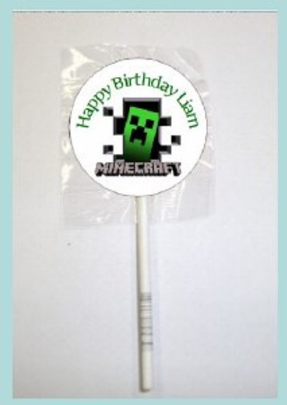 15Pk Minecraft Lollipops