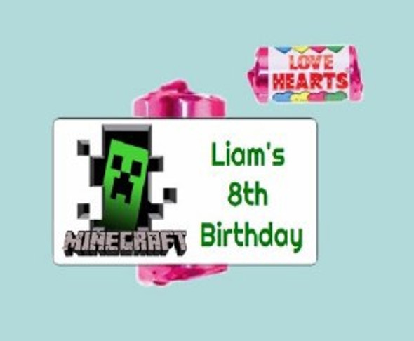 9Pk Minecraft Loveheart Sweets