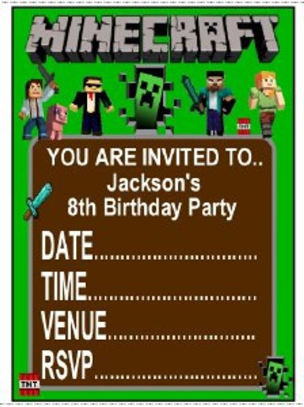 Personalised Minecraft Invites