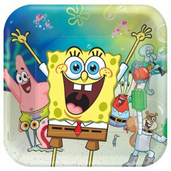 Spongebob Party Plates