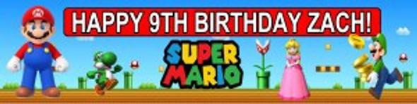 Personalised Super Mario Banner