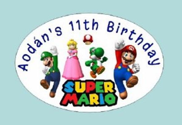 Personalised Super Mario Labels