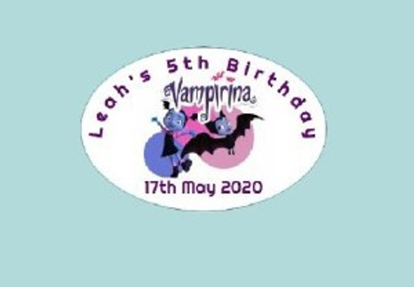 8Pk Vampirina Labels