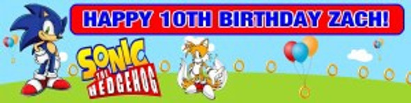 Personalised Sonic Banner