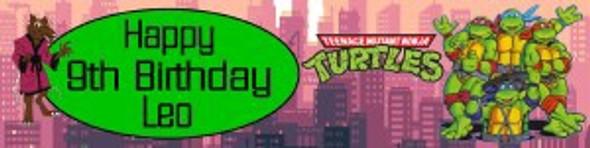 Personalised TMNT Banner