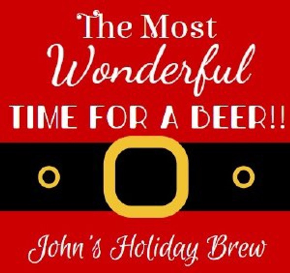 6Pk Holiday Brew Beer Labels
