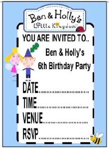 Ben And Holly Invitations