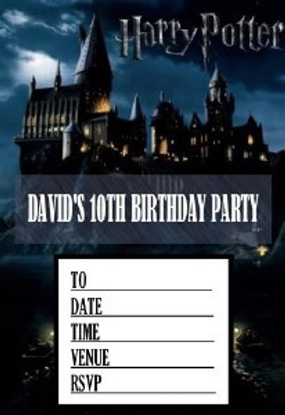 Harry Potter Invites