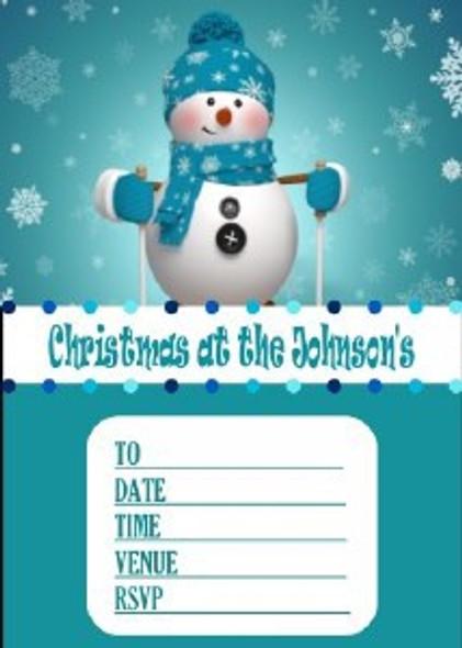 Personalised Snowman Invites
