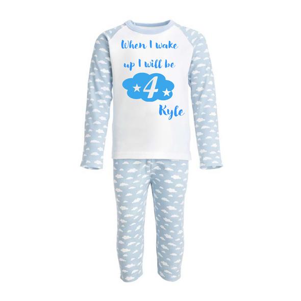 Blue Personalised Birthday PJs