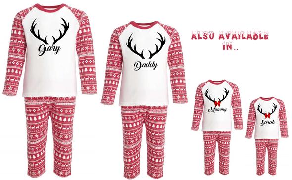 Personalised Boys Reindeer PJs