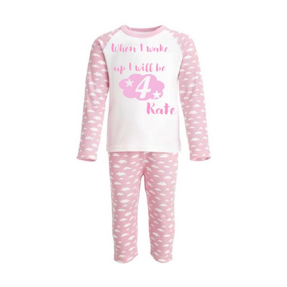 Pink Personalised Birthday PJs
