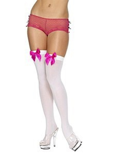 Thigh High Stockings Pink Bow