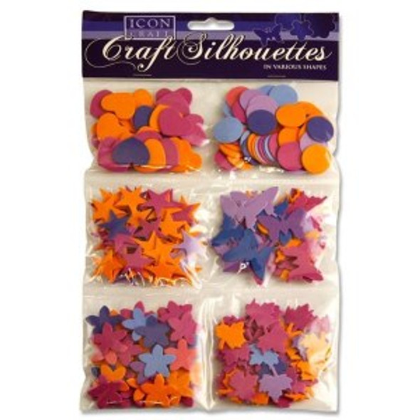Multi Pack Neon Craft Silhouettes