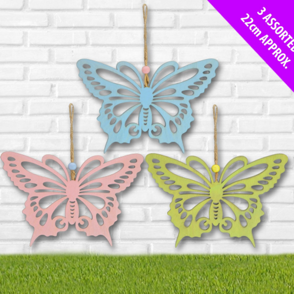 Wooden Butterfly Easter Decoration