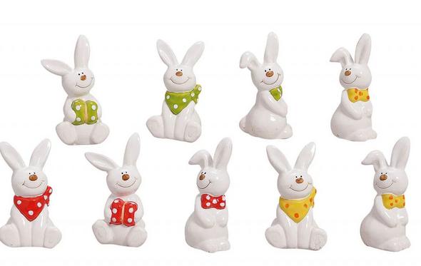 7cm White Ceramic Rabbit