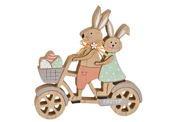 Wooden Bunnies On A Bicycle