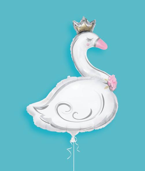 Lovely Swan Supershape Foil Balloon