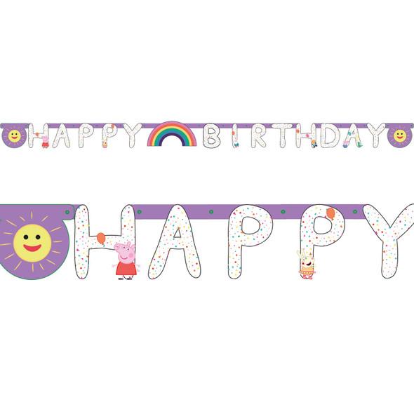 Peppa Pig Balloon Banner