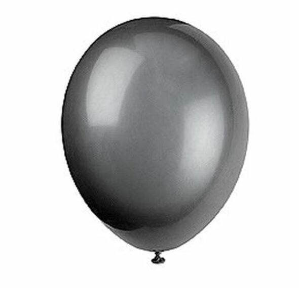 50pk Phantom Black Balloons