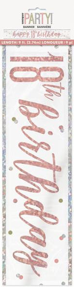 Rose Gold 18th Birthday Banner
