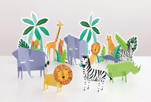Safari Animal Party Decorating Kit