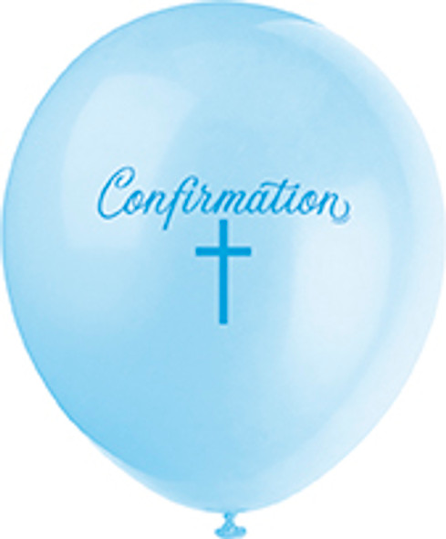 Blue Cross Confirmation Balloons