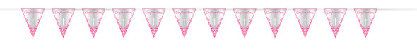 Pink Cross Confirmation Pennant Banner