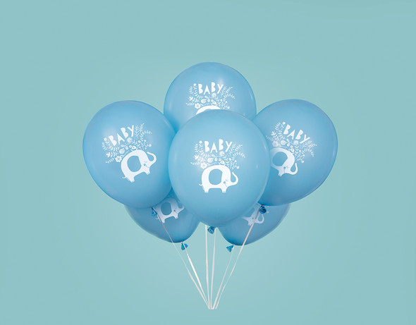 Blue Elephant Baby Shower Balloons