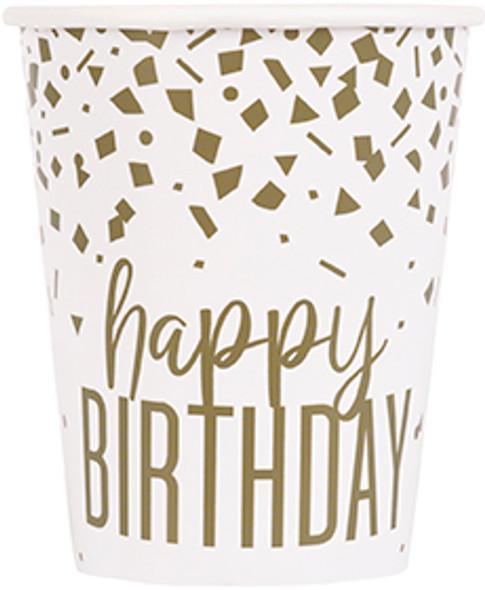 Gold Confetti Birthday Cups